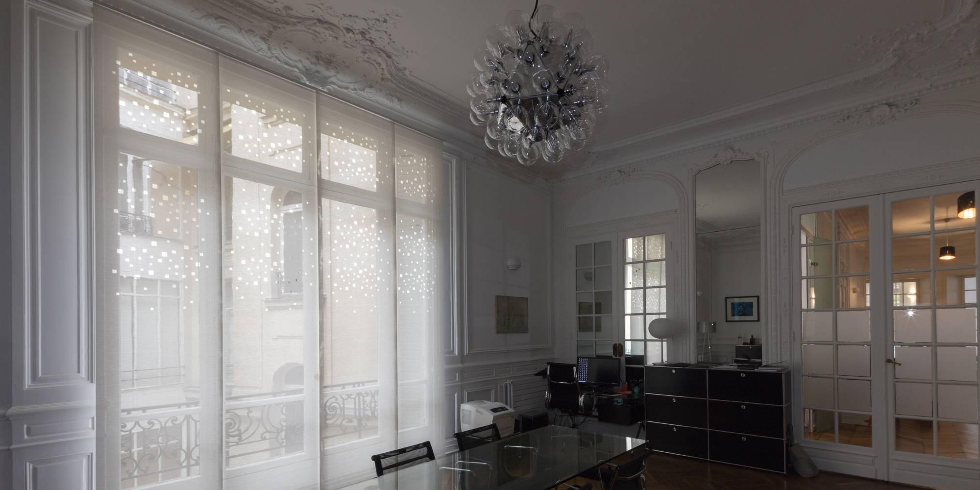 """Panneaux """"lumières de la ville"""" pour habiller de belles et grandes fenêtres"""