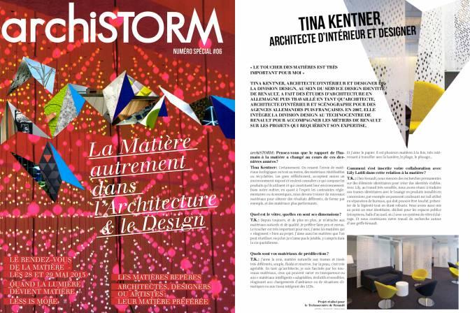 Archistorm 2013 - Couv - Lily Latifi en collaboration avec Tina Kentner