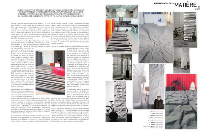 Archistorm - numéro spécial #8 - 2014 - Le textile revisité par la lumière