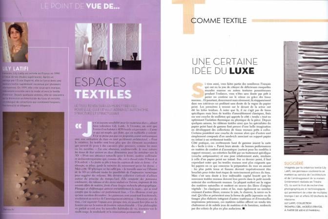 Lily Latifi - HOME - Espaces textiles