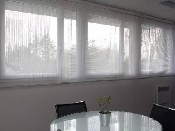 panneaux en tissu transparent