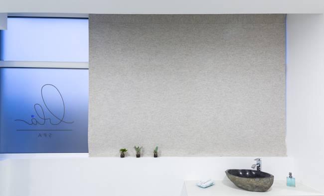 Curtains in felt Blå Spa