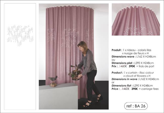 "1 ""cloud of flowers"" curtain"