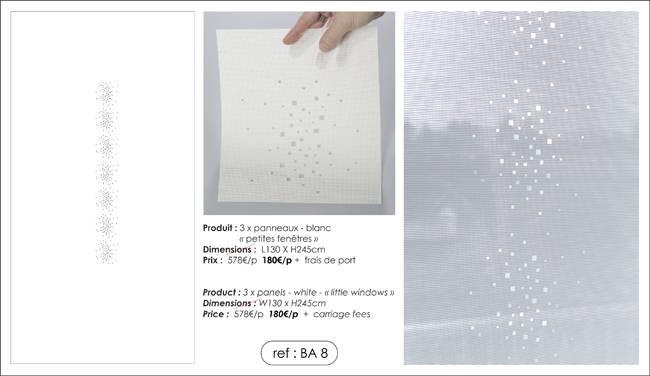 """3 panneaux écrans solaires - dessin """"petites fenêtres"""""""