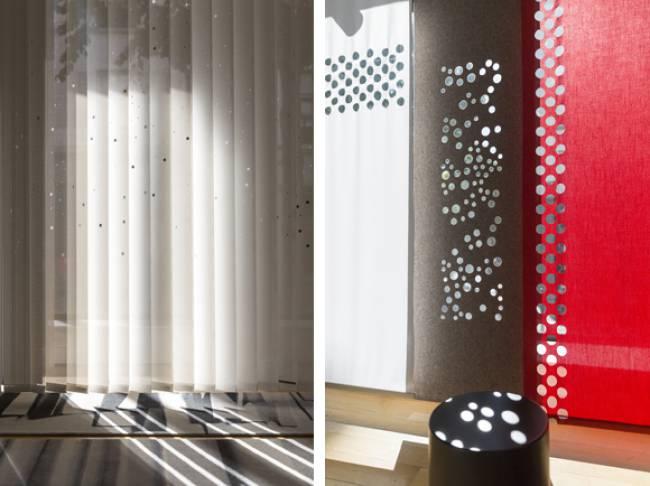 Panneaux showroom Lily Latifi