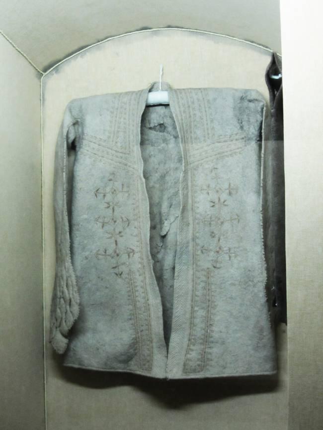 manteau en feutre fait main