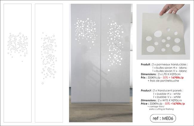 """bubbles"" translucent panels"