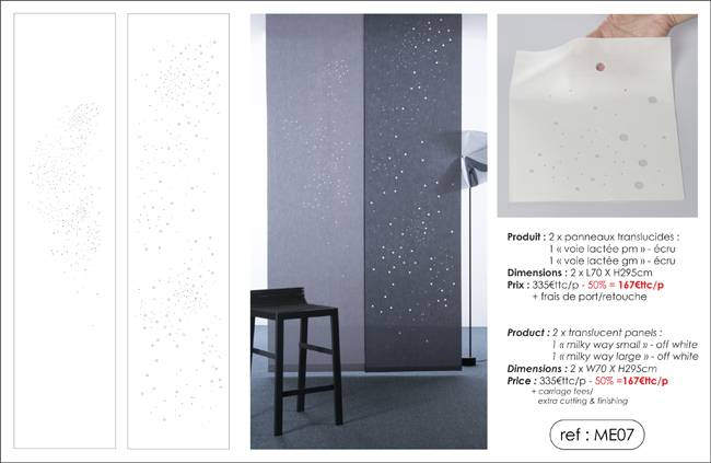 """milky way"" translucent panels"