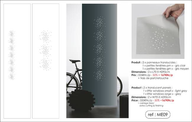 """little windows"" translucent panels"