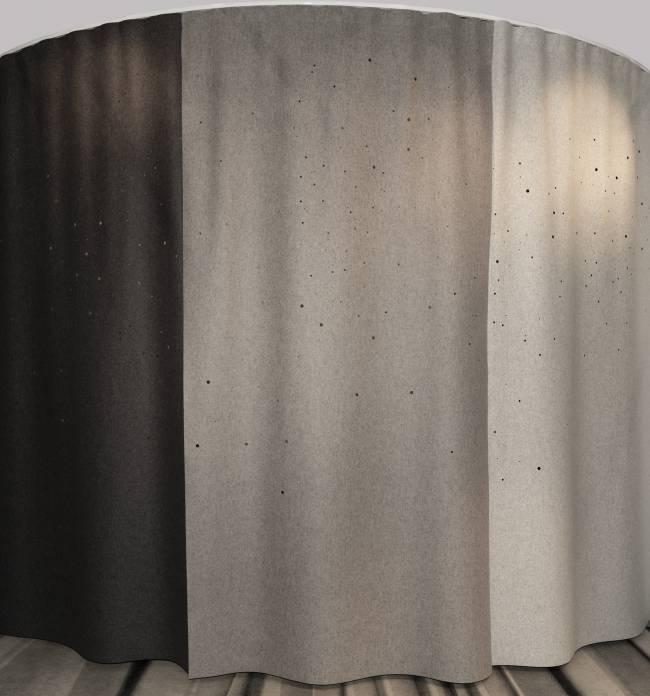 curtains in felt