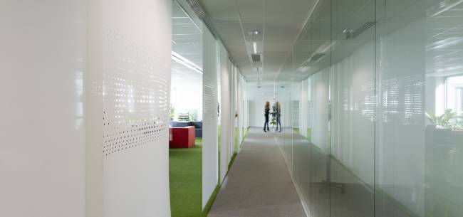 Create a corridor with sliding panels