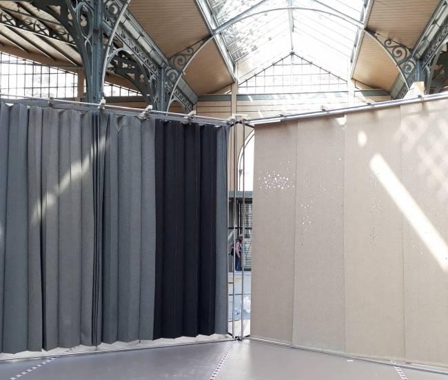 parois plaintes et panneaux coulissants en 100% laine - made in France