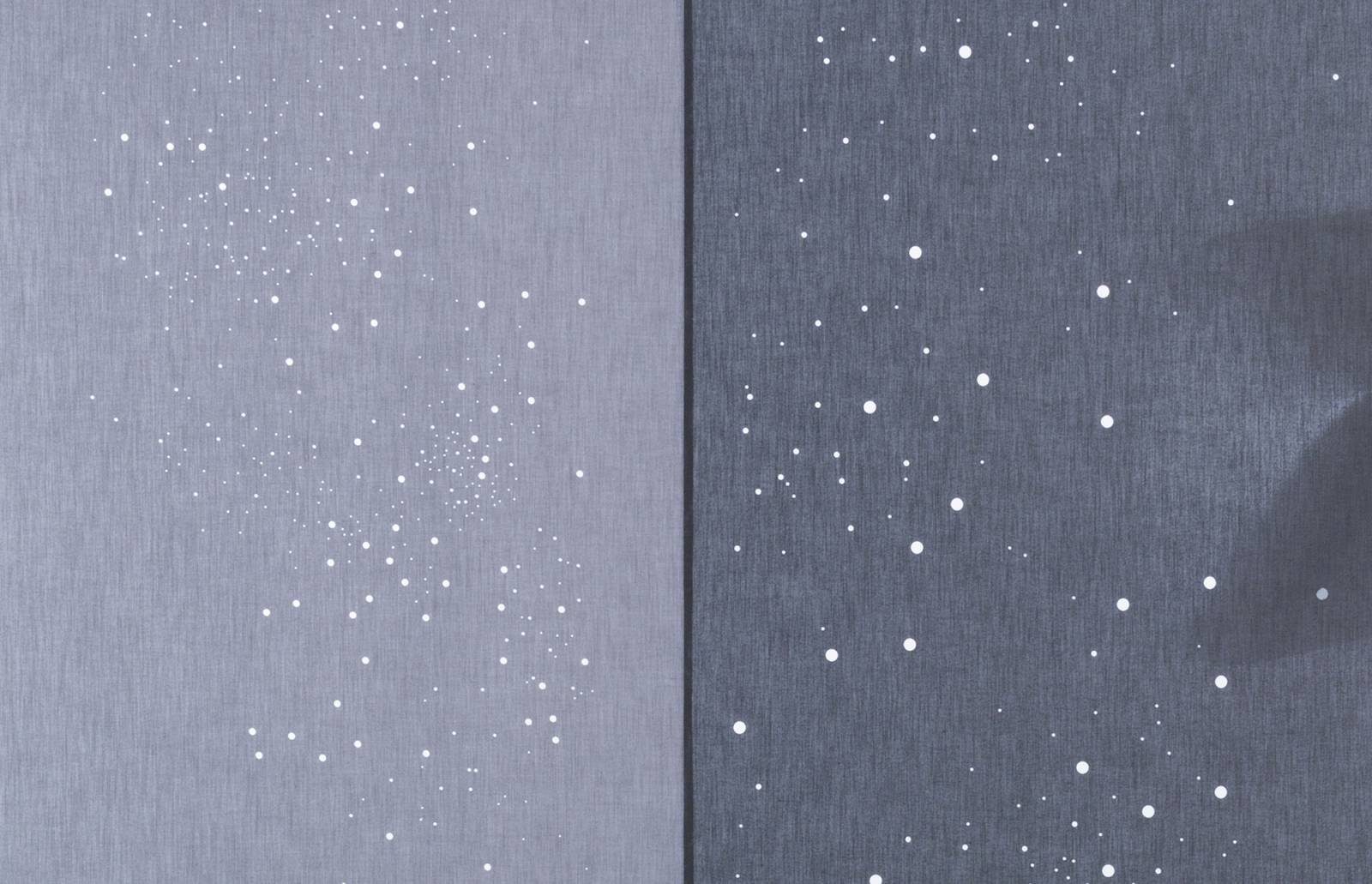 "Translucent glass panels ""Milky way"" : example 2"