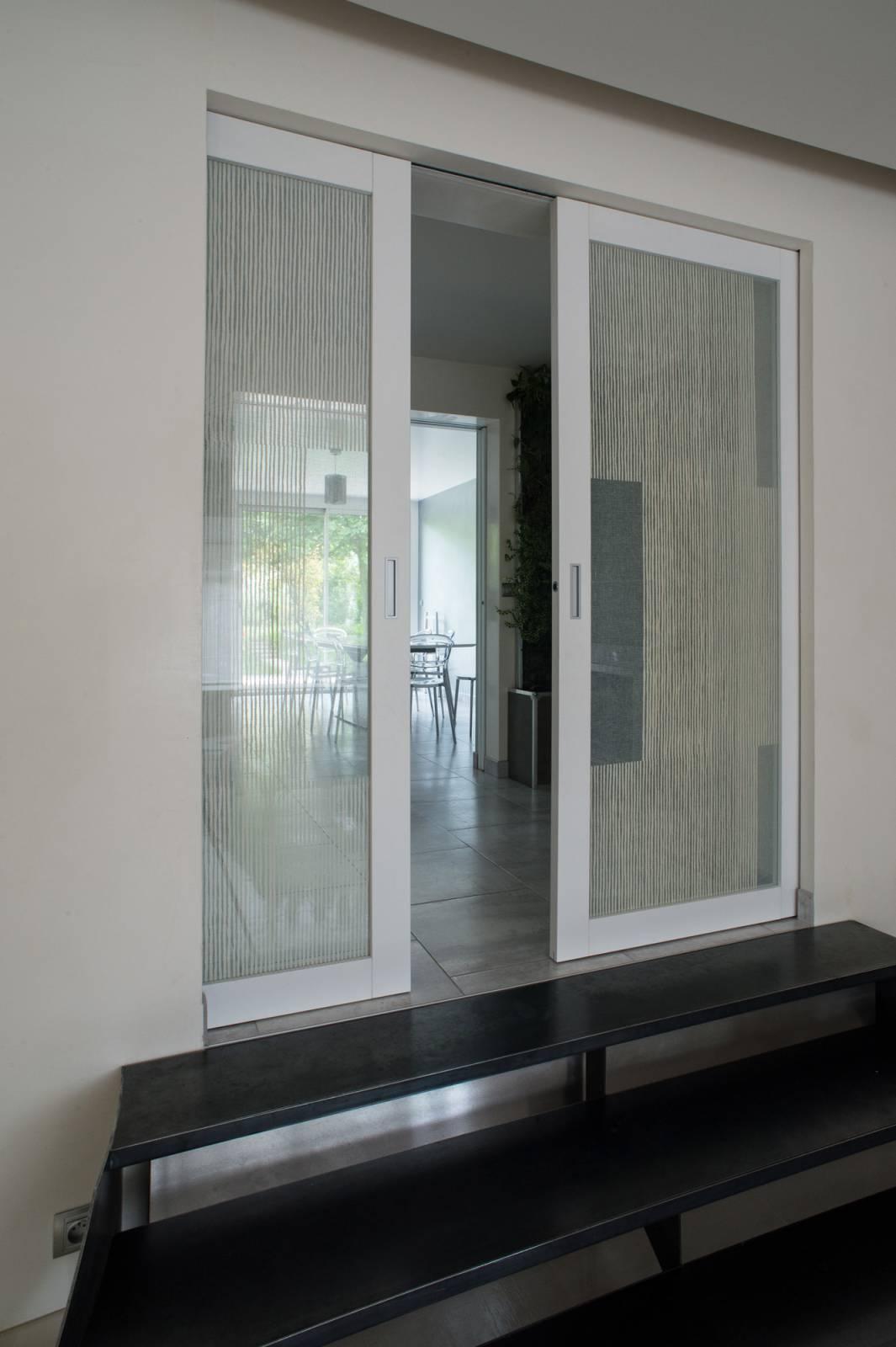"""Parois en verre transparentes :""""sieste vertical"""" cendre"""
