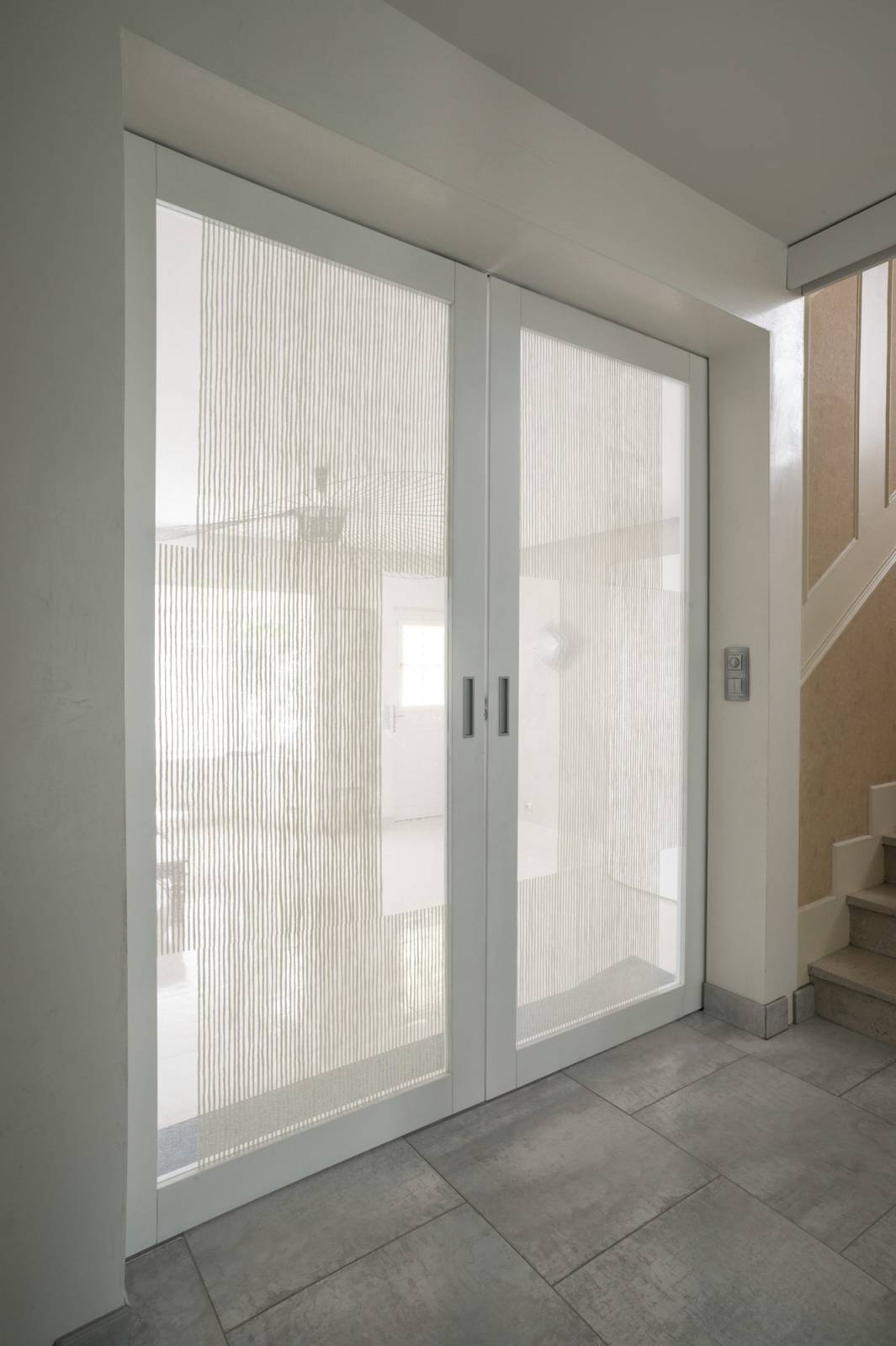 "Transparent glass panels : ""Siesta V"" white - 4"