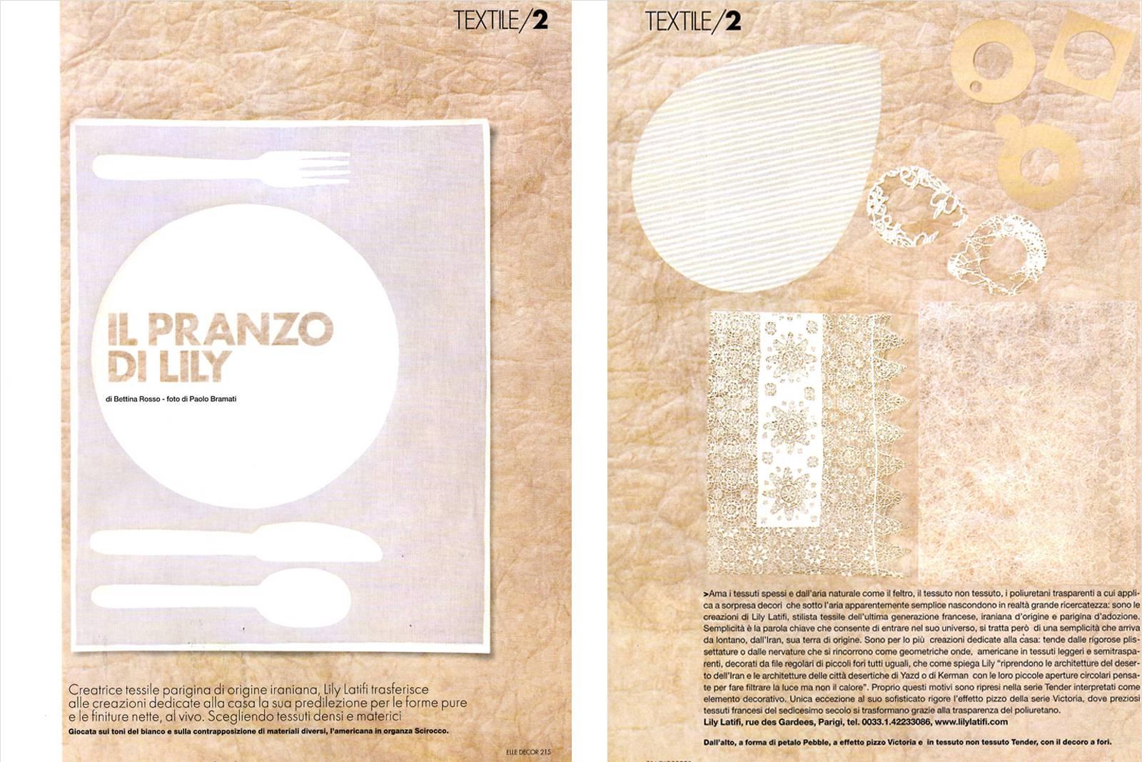 ELLE Décoration Italie Avril 2005