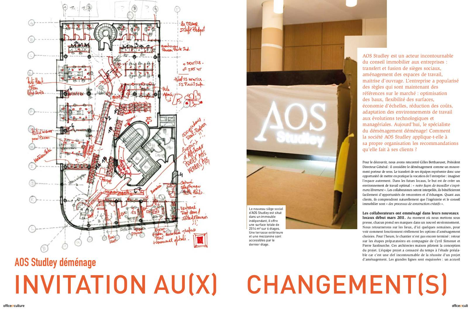 Office et culture #19 AOS Studley moves offices - Invitation to change