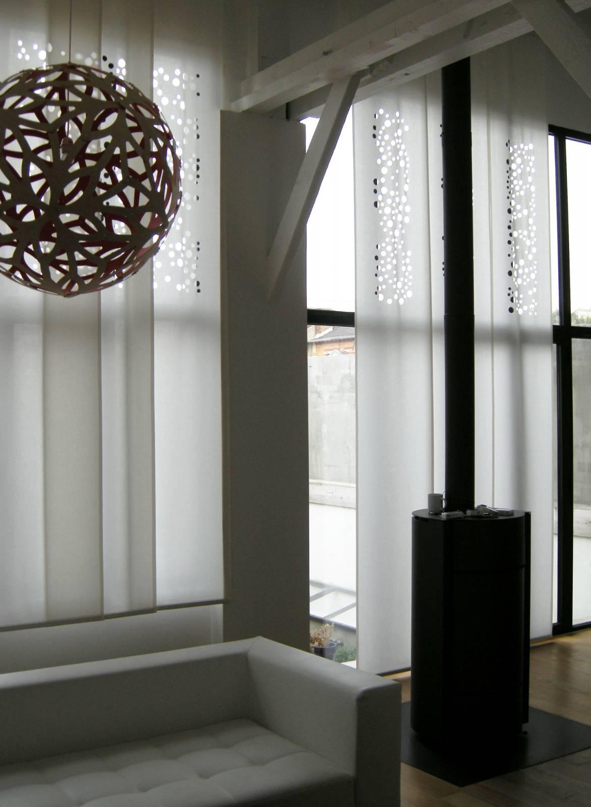 """Panneaux japonais translucides """"Bulles de savon"""" - exemple de réalisation 1"""