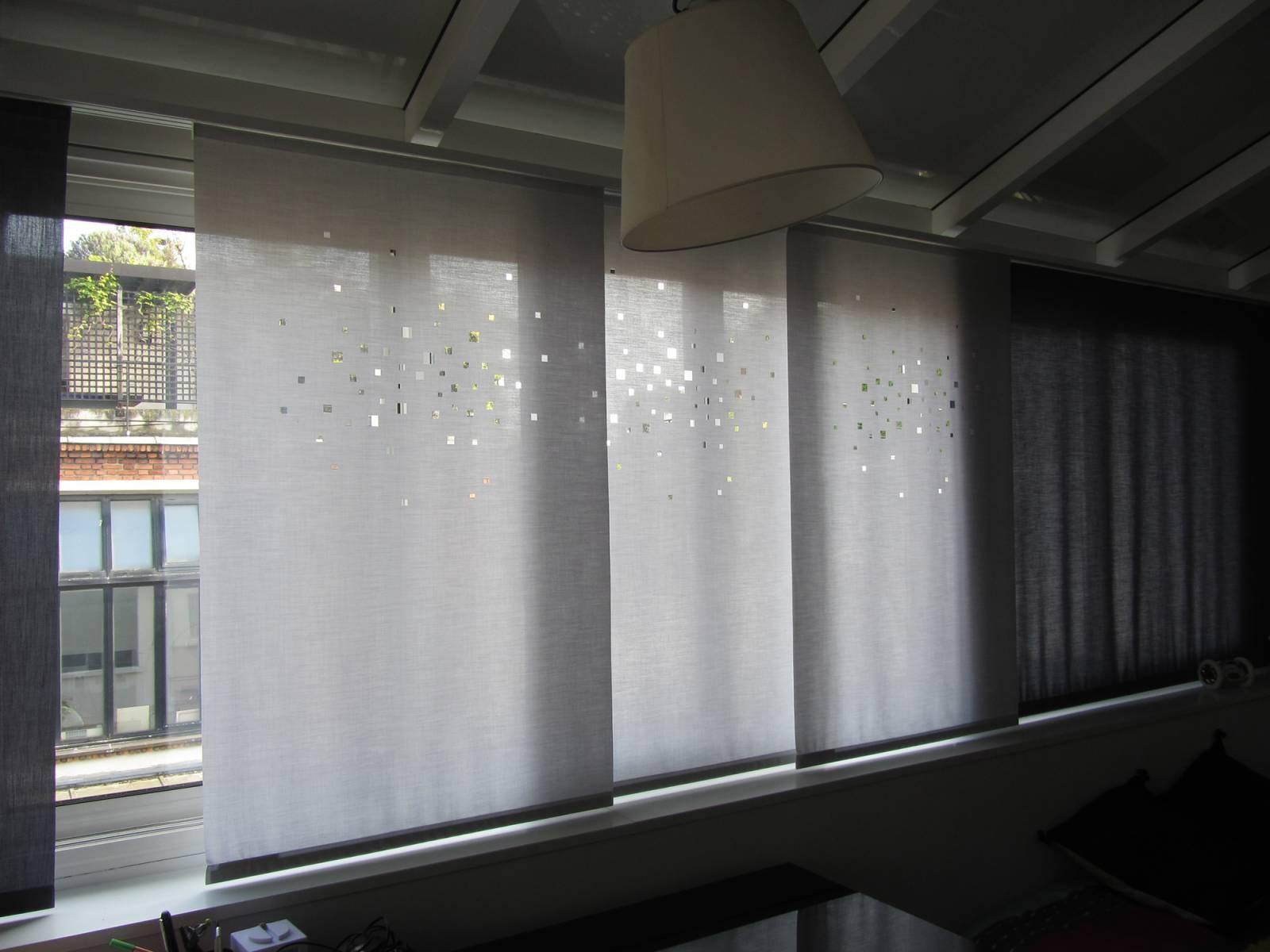"""Panneaux japonais translucides """"Lumières de la ville"""" - exemple de réalisation 2"""
