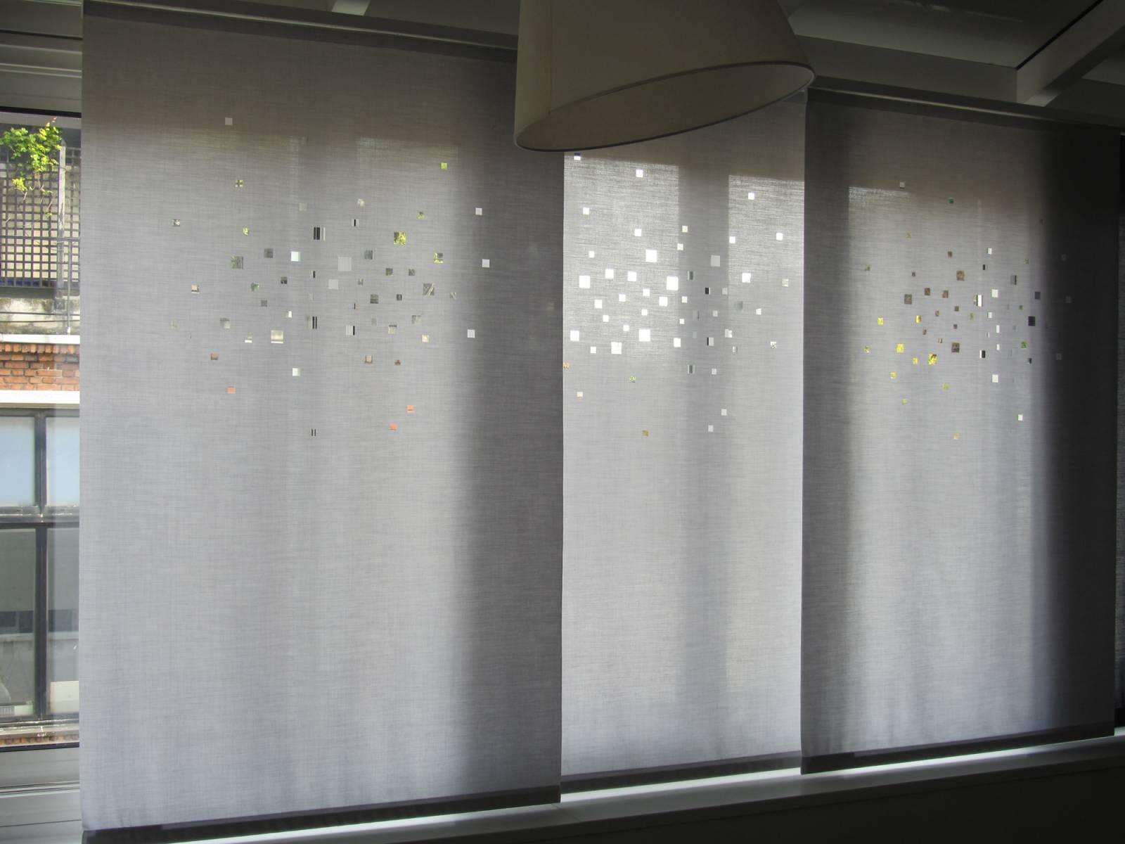 """Panneaux japonais translucides """"Lumières de la ville"""" - exemple de réalisation 3"""
