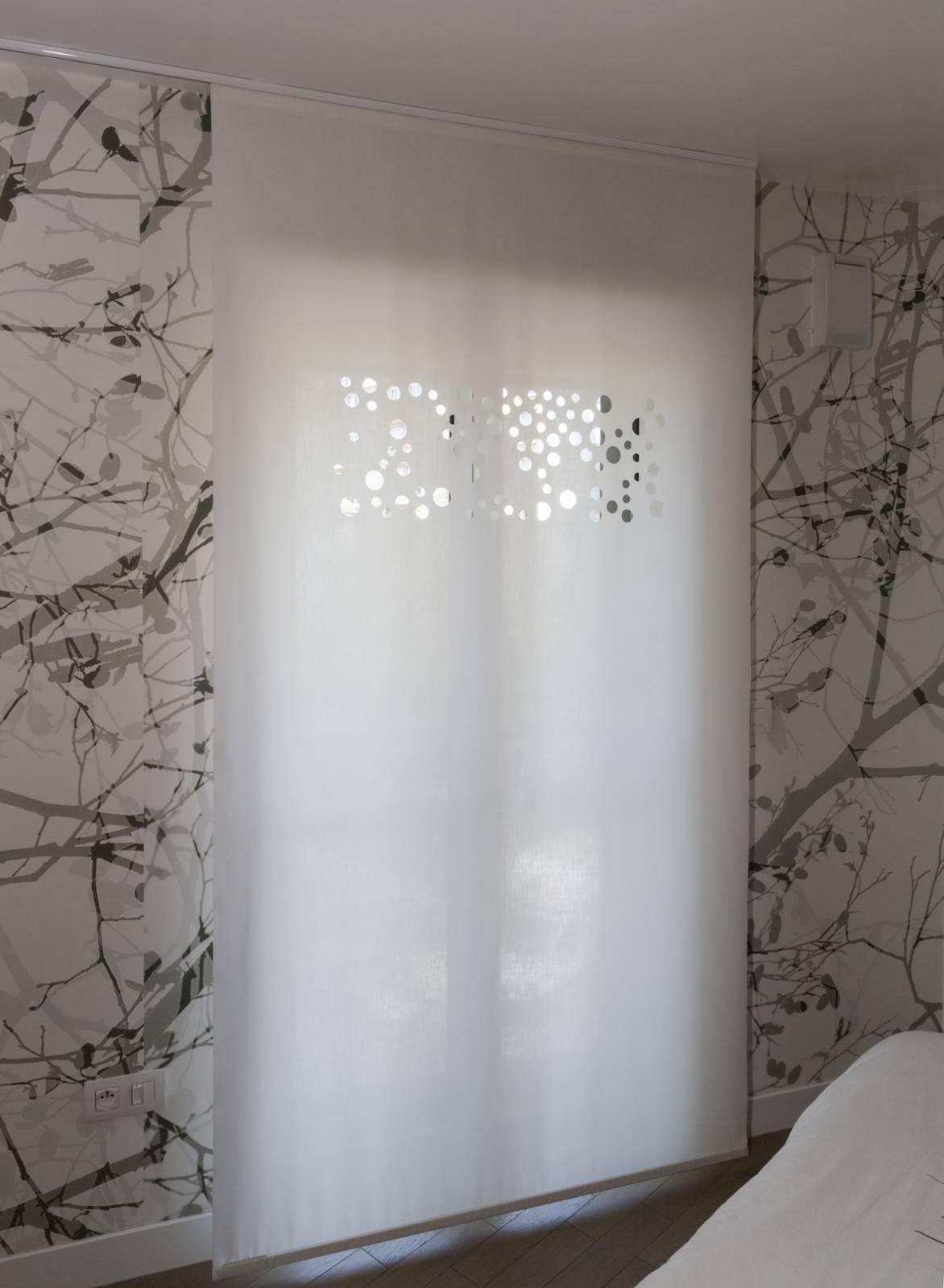 """Panneaux japonais translucides """"Bulles de savon"""" - exemple de réalisation 5"""