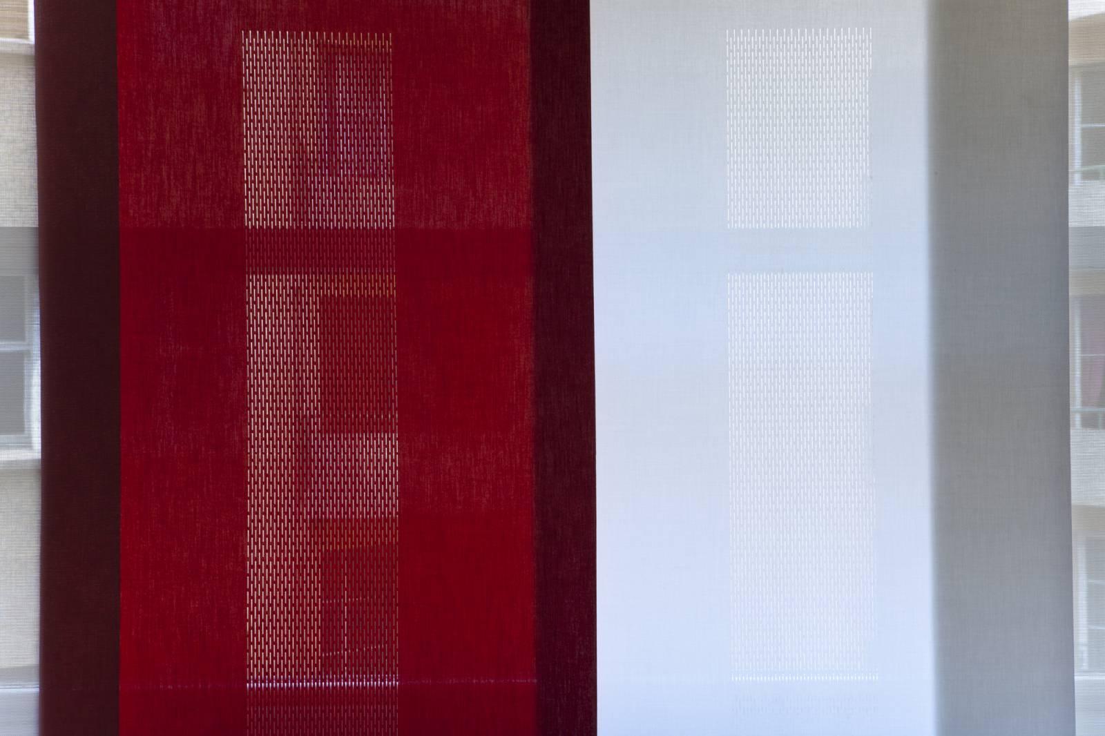 """Panneaux japonais translucides """"Gouttes de pluie"""" - exemple de réalisation 4"""