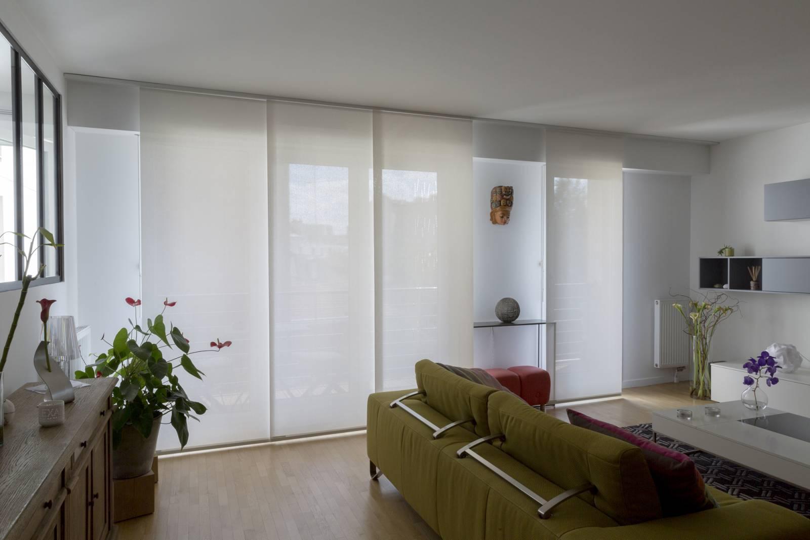 """Panneaux japonais écran solaire """"Mikado"""" - exemple de réalisation 7"""