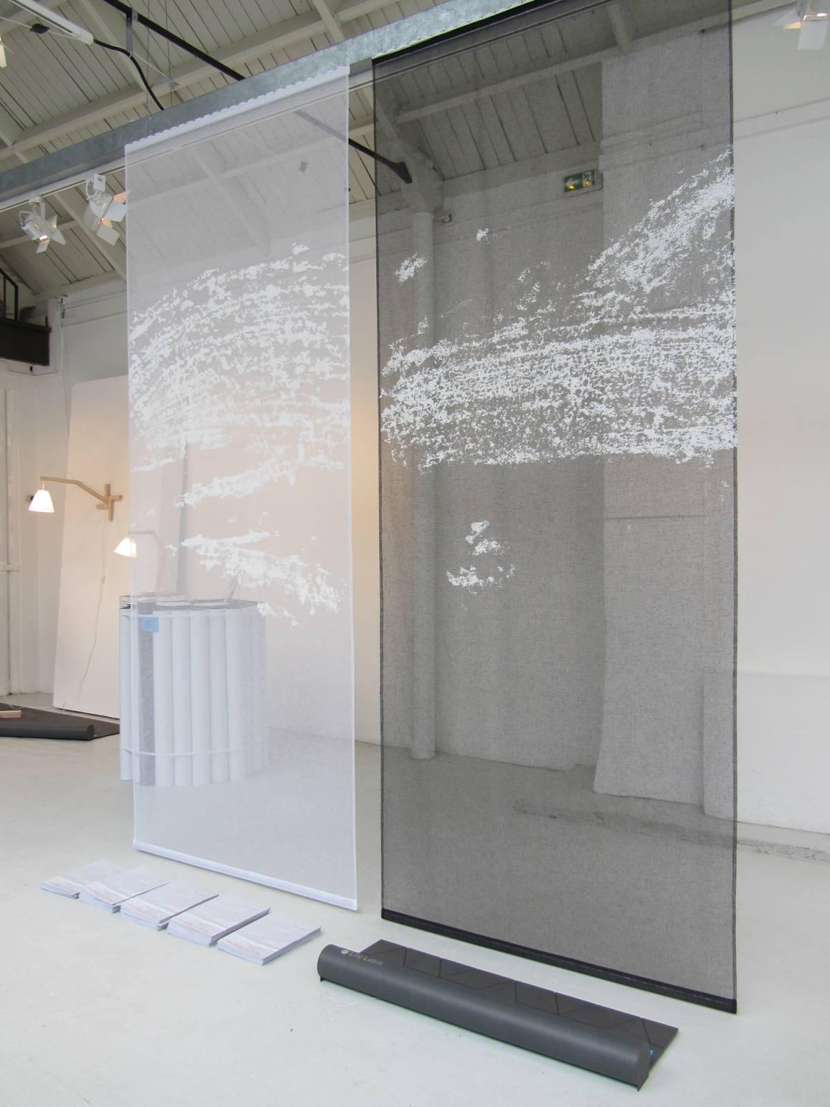 """Celeste 1"" transparent sliding panel - example 4"