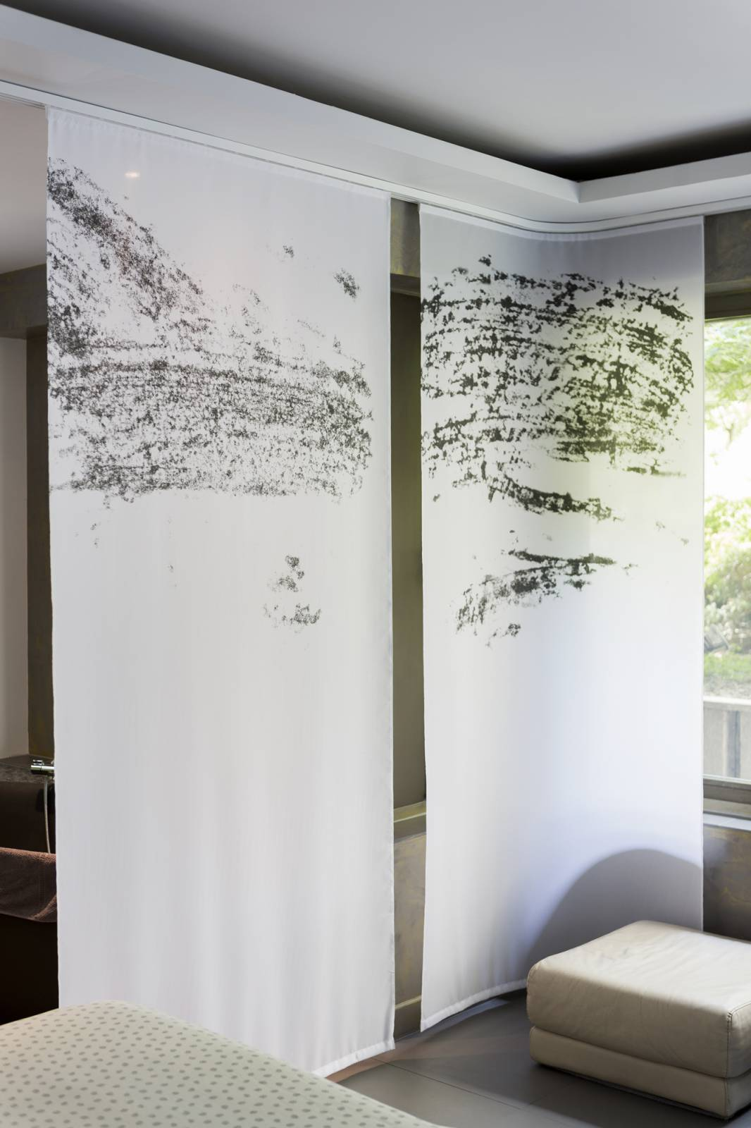 """Panneaux japonais transparents """"Céleste 1"""" - exemple de réalisation 6"""
