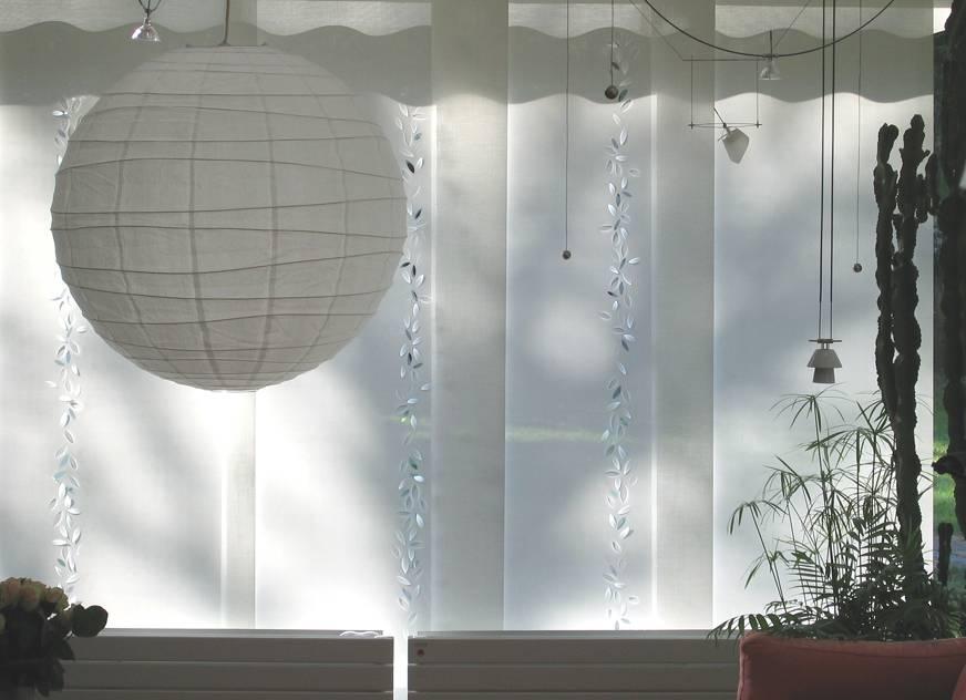 """Panneaux japonais écrans solaires """"Guirlande de feuilles"""" - exemple de réalisation 5"""