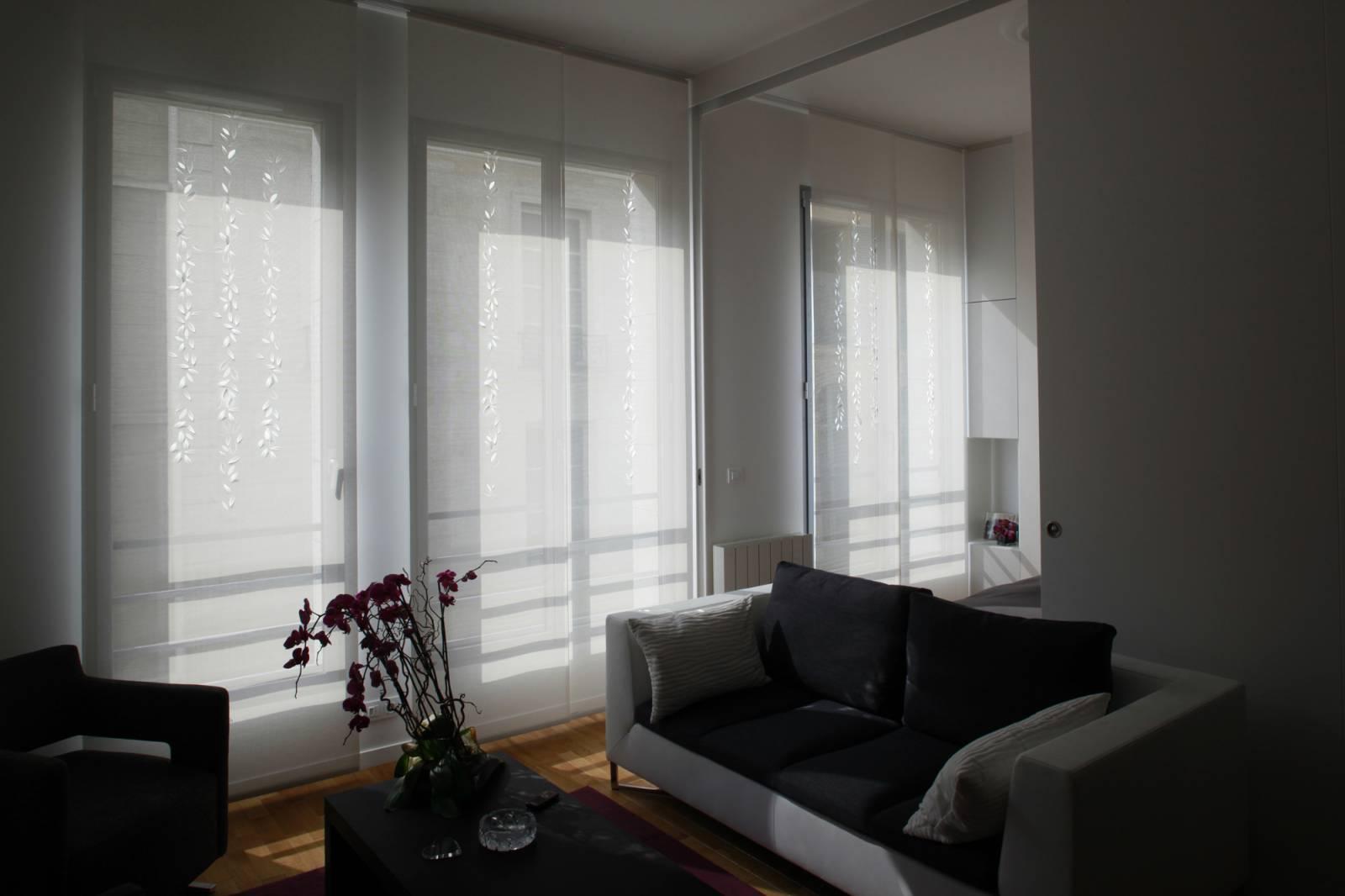 """Panneaux japonais écrans solaires """"Guirlande de feuilles"""" - exemple de réalisation 9"""