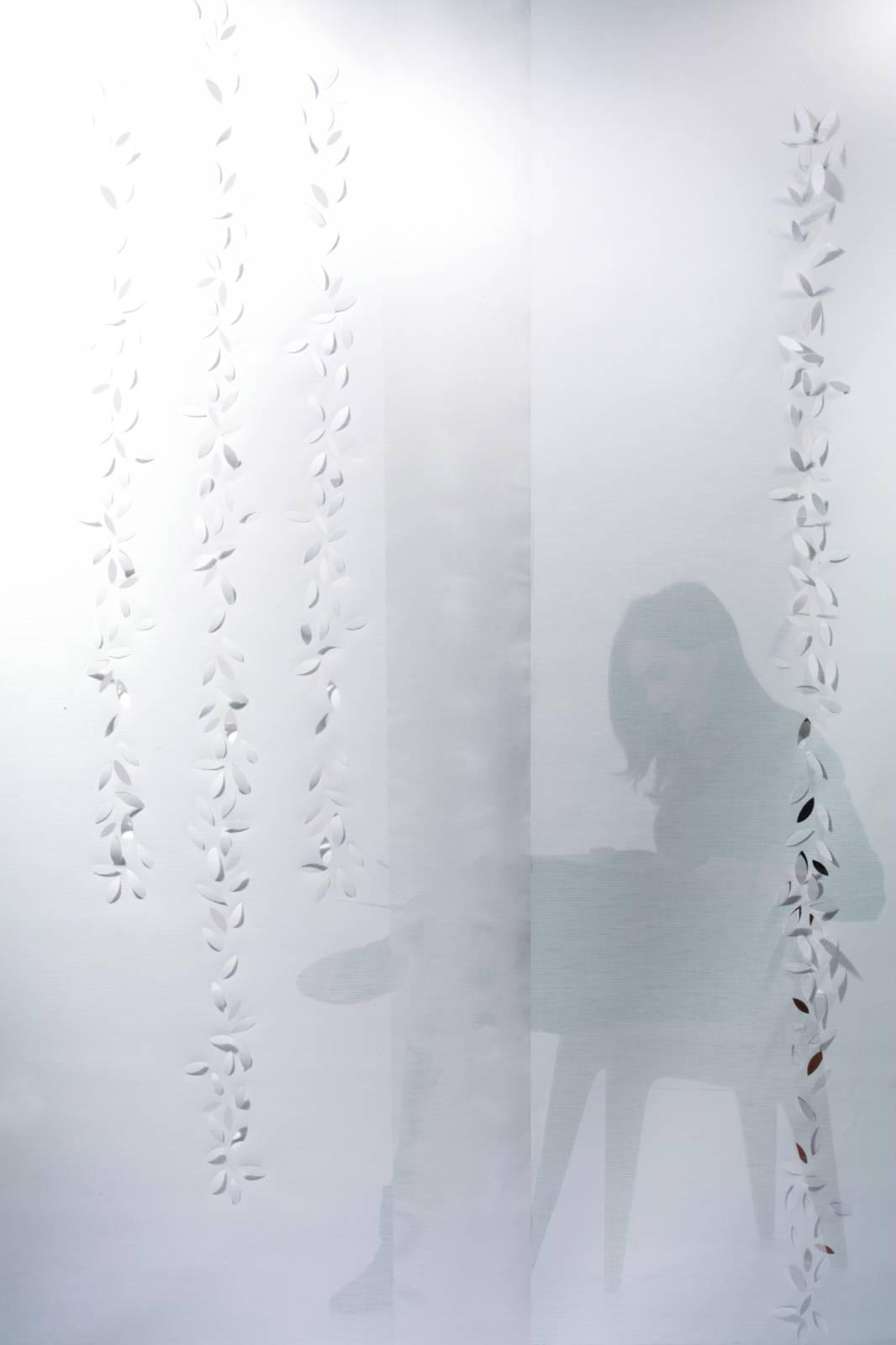 """Panneau japonais écran solaire """"Guirlande de feuilles"""""""