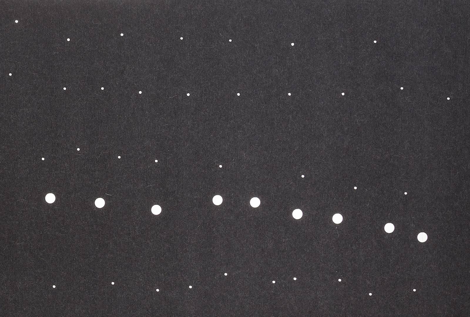 """Fireflies"" acoustic sliding panel - example 1"