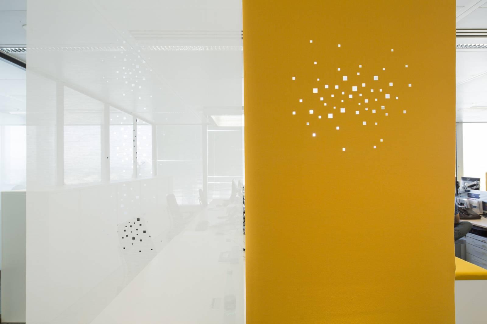 """Panneaux japonais acoustiques """"Lumières de la ville"""" - exemple de réalisation 1"""
