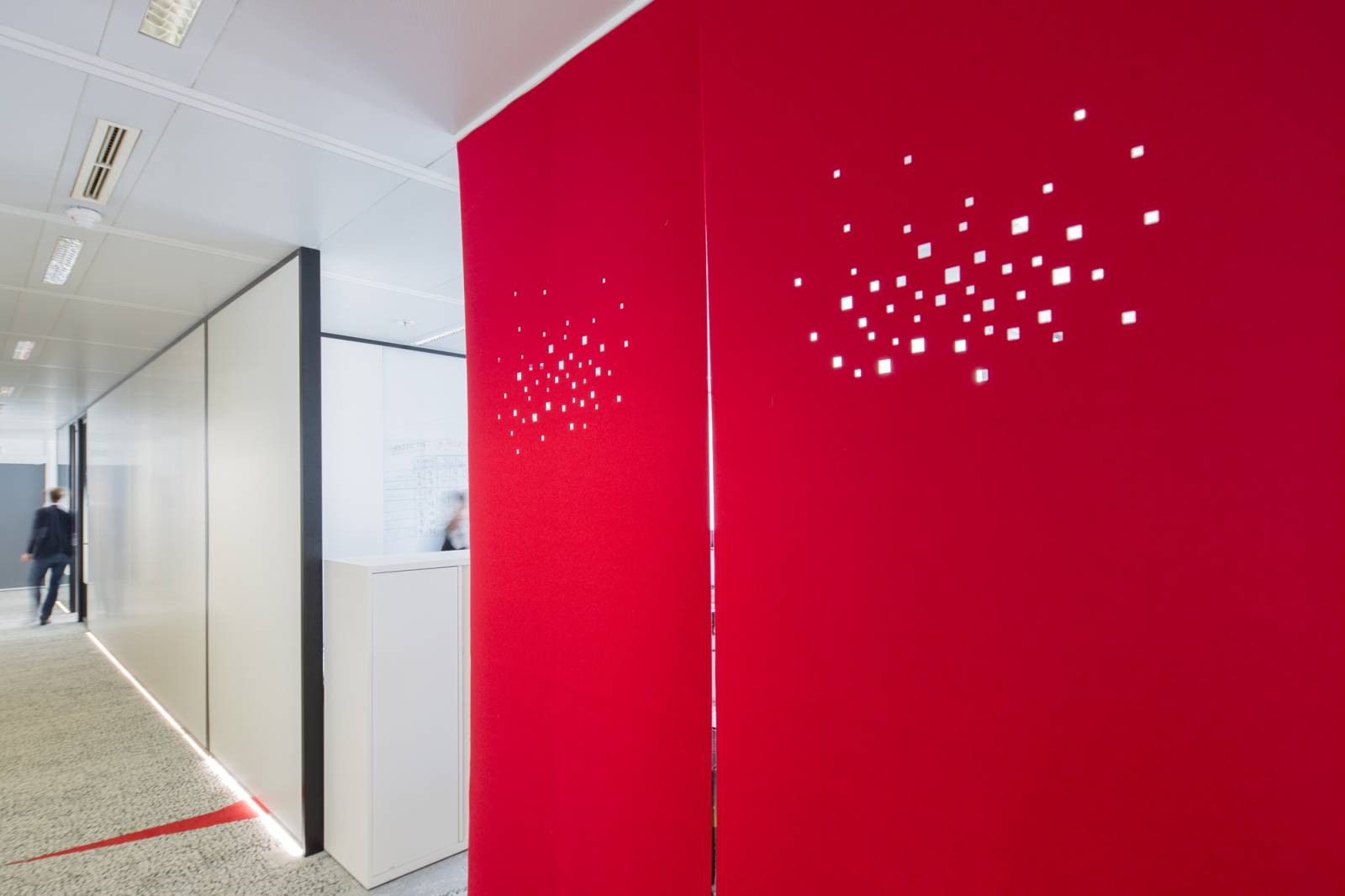 """""""City lights"""" acoustic sliding panel - example 6"""