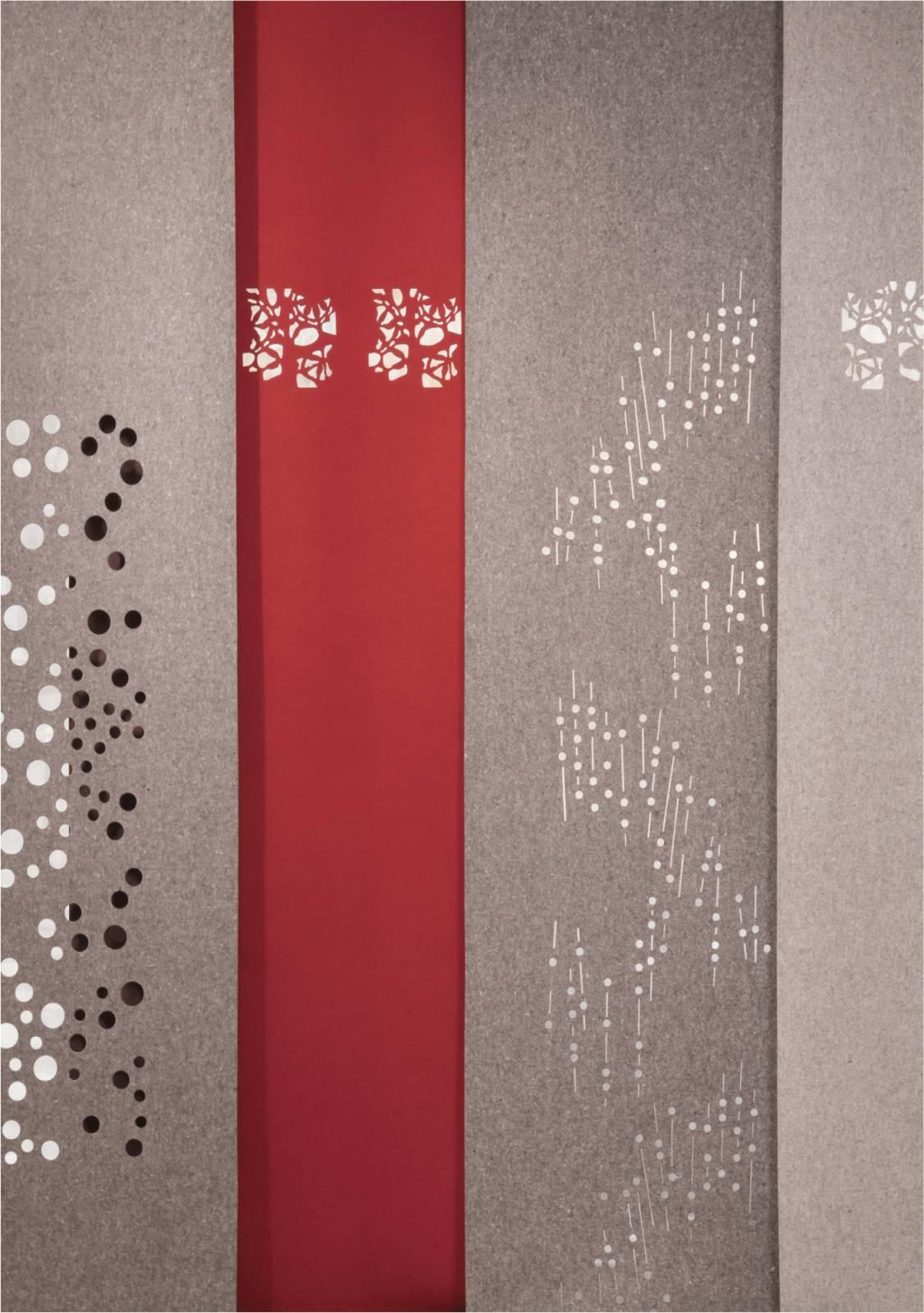 """Panneaux japonais acoustiques """"Nuage de fleurs"""" - exemple de réalisation 1"""