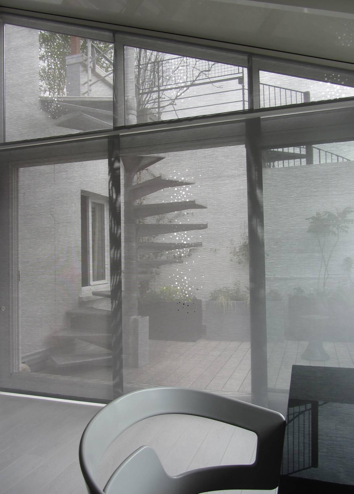 """Panneaux japonais écran solaire """"Petites fenêtres"""" - exemple de réalisation 1"""