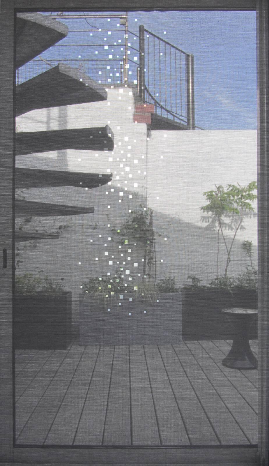 """Little windows"" sun screen sliding panel - example 2"
