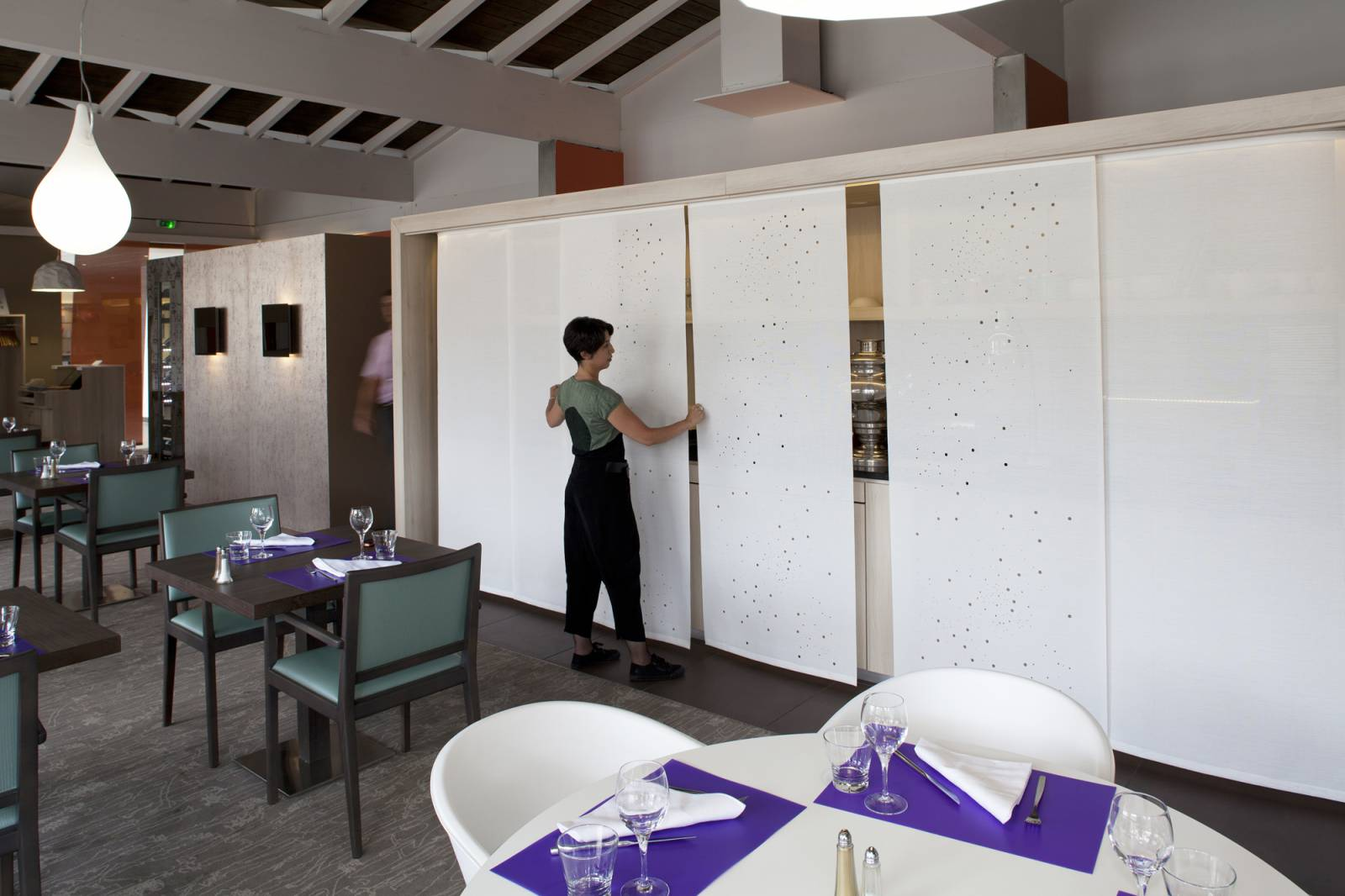 """Panneaux japonais translucides """"Voie lactée"""" - exemple de réalisation 8"""
