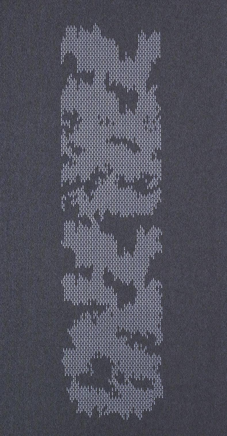 """Panneaux japonais translucides """"Nuage de traits"""" - 2"""