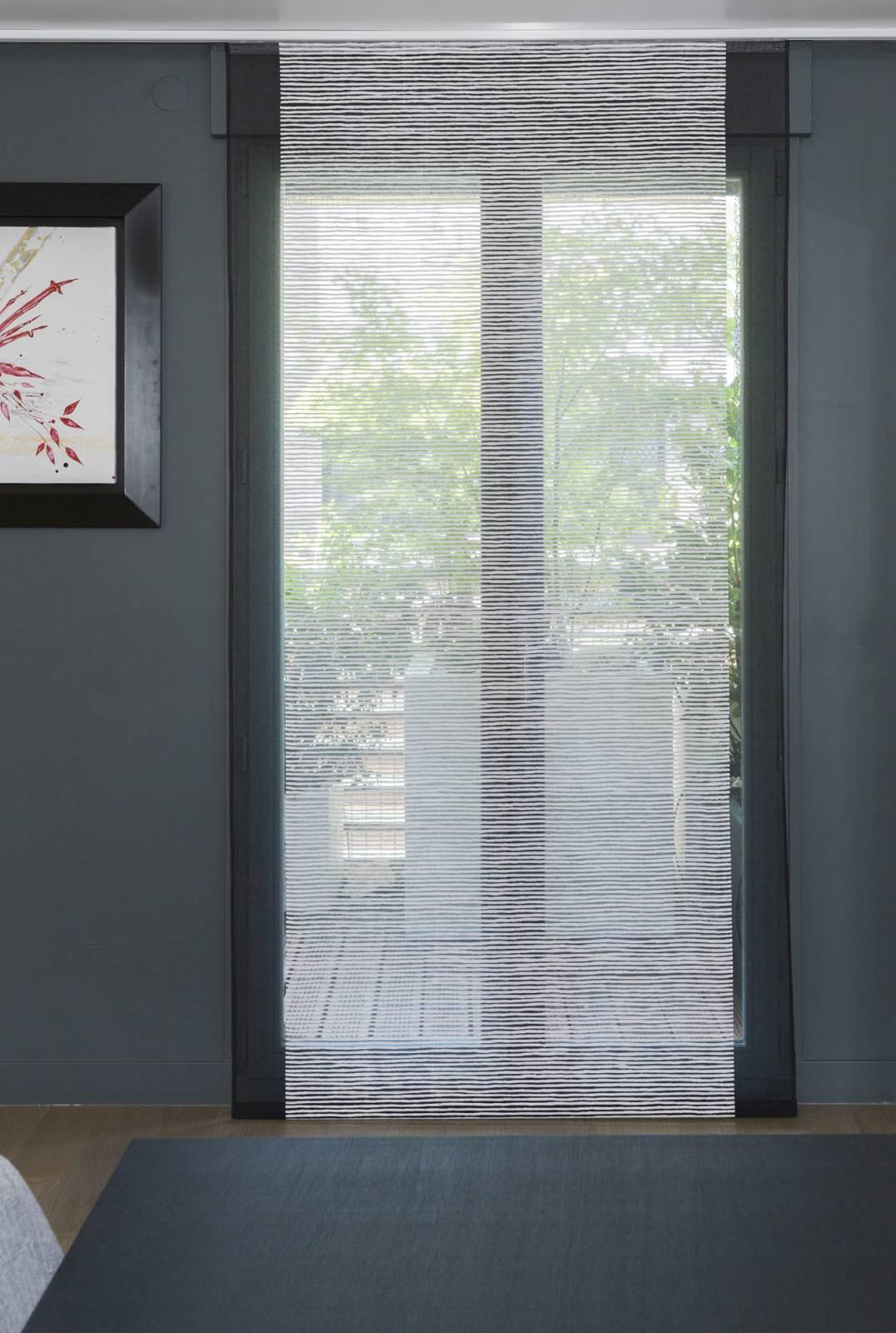 """Panneaux japonais transparents """"Sieste H"""""""