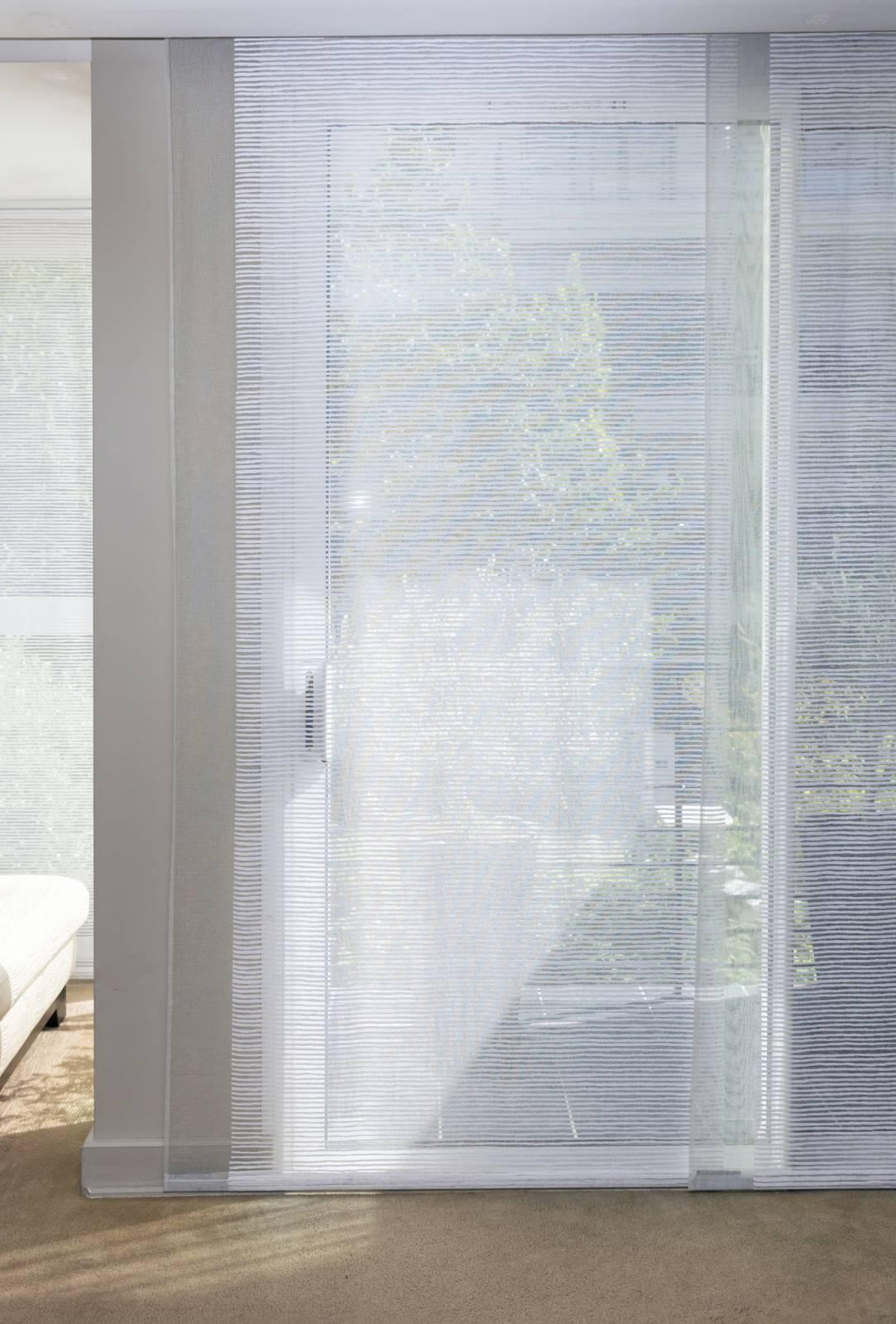 """Panneaux japonais transparents """"Sieste H"""" - exemple de réalisation 3"""