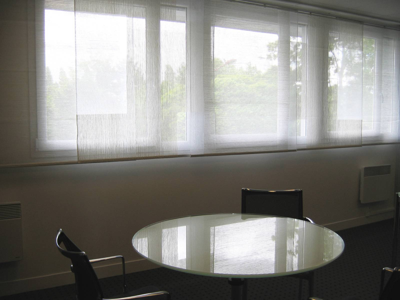 """Siesta V"" transparent sliding panel - example 6"