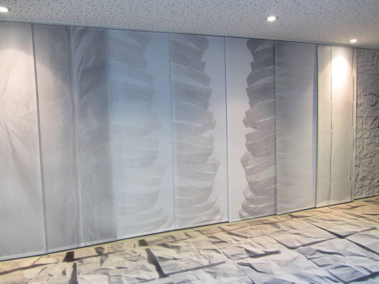 """Panneaux japonais trompe l'oeil """"Souffle"""" - exemple de réalisation 1"""