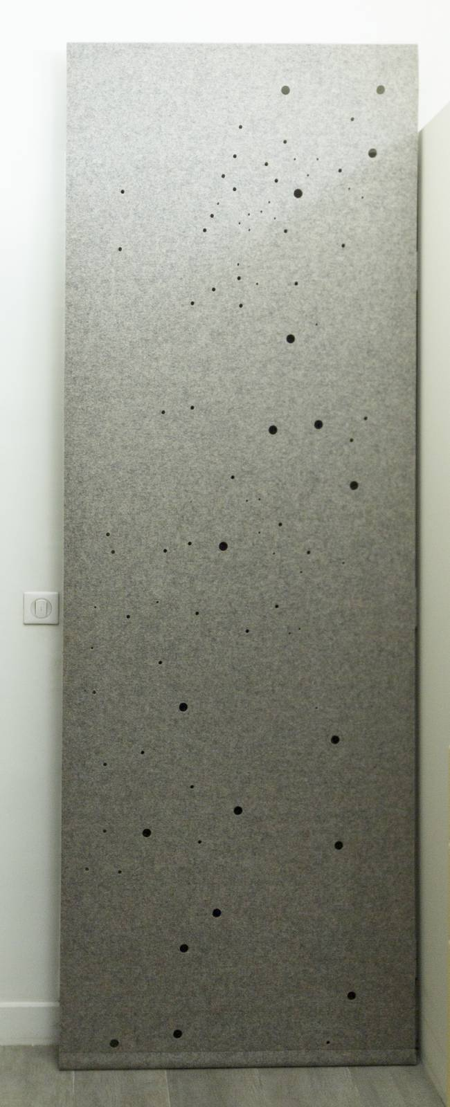 """Milky way"" acoustic sliding panel - example 2"