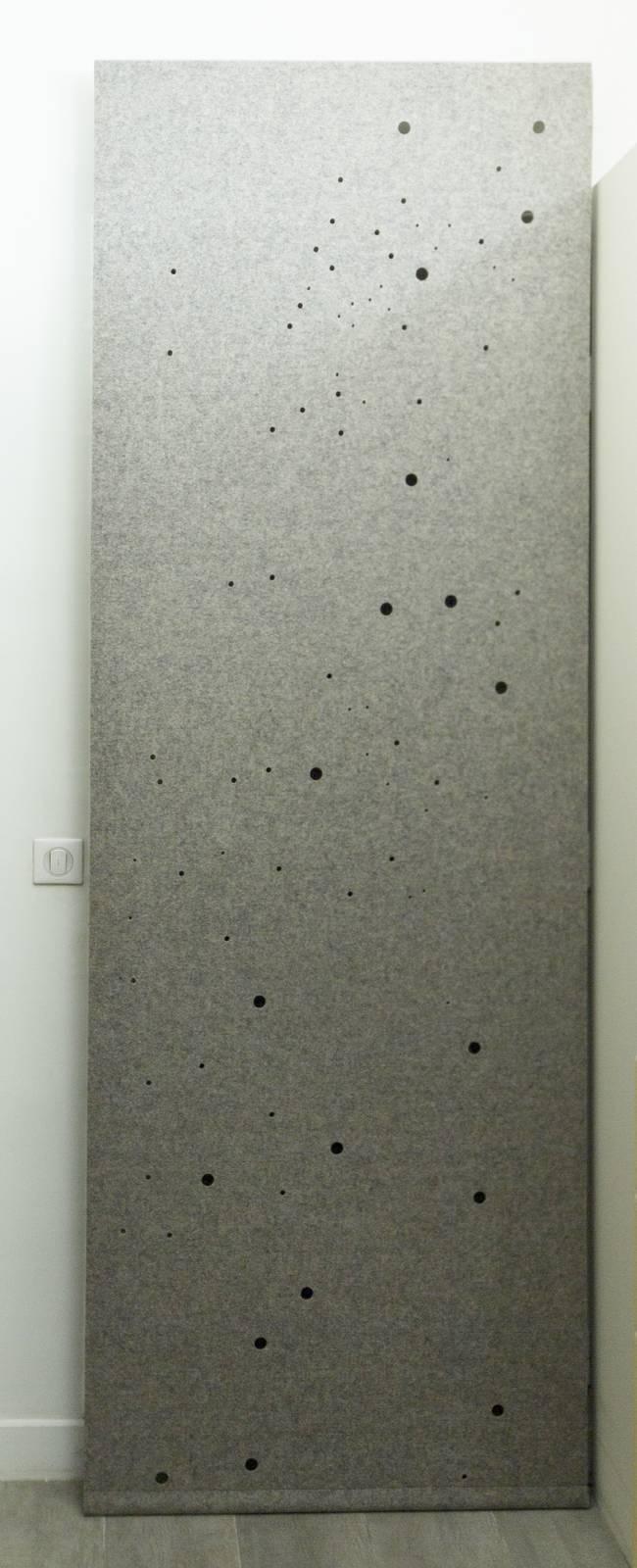 """Panneaux japonais acoustiques """"Voie lactée"""" - exemple de réalisation 2"""