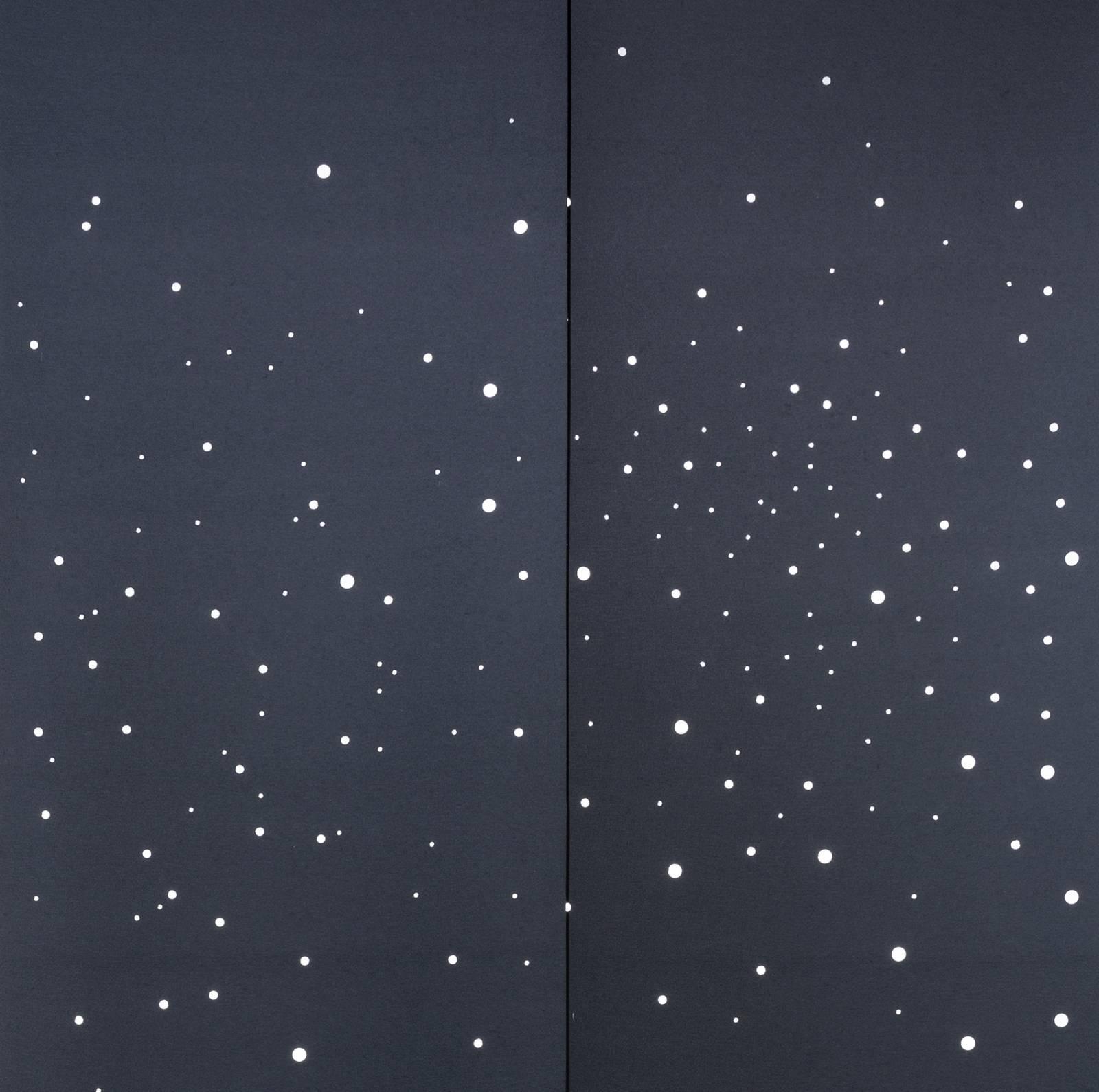 """Milky way"" blackout sliding panel - example 1"