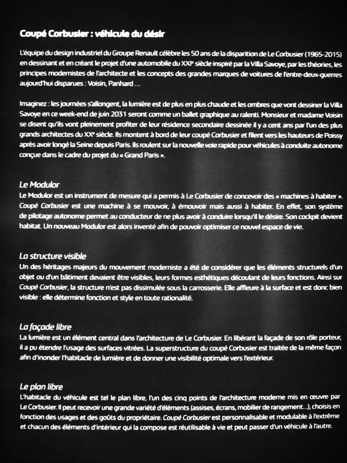 Coupé Corbusier . Renault 2015 -7