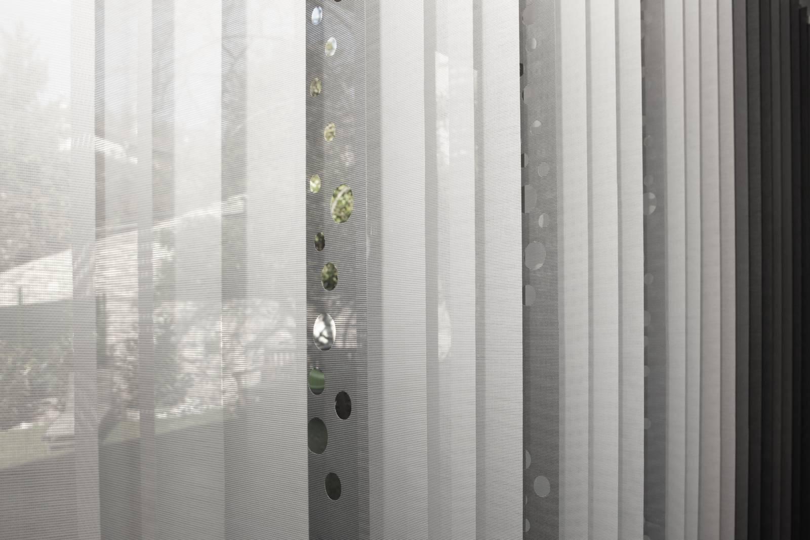 """Stores à bandes verticales """"Bulles de savon"""" - exemple de réalisation 6"""