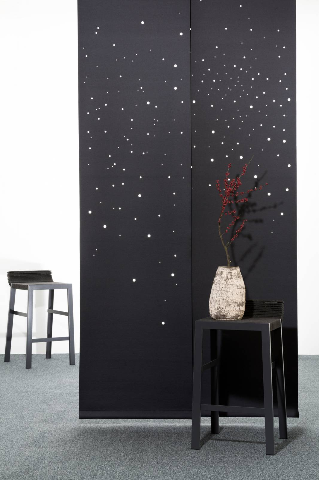 """Namad"" sliding panels - Acoustic Felt - Milky way"